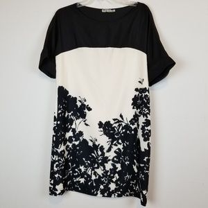 Eliza J. black/cream floral dress size 8
